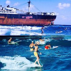 #HangTenTuesday In 1965 during Hurricane Betsy, a ship beached near Singer Island & for more than 3 years it created a perfect little break for surfers in the Sixties. You can find vintage photos like these & more at Palm Beach County's SurfHistoryProject.org #sunshinestategoods #getsomesunshine