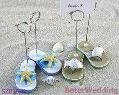 Baby shower SZ019/B Flip Flop Placecard Holders@BeterWedding party favors or event gifts on AliExpress.com. 5% off $94,999.05