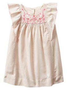 Embroidered neon floral flutter dress | Gap ::: Ready for her first wedding!!!!