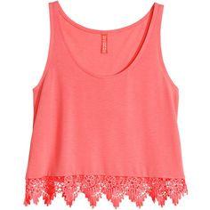 H&M Short sleeveless top ($9.39) ❤ liked on Polyvore featuring tops, shirts, tank tops, crop top, coral, red sleeveless top, sleeveless tops, short shirts and red shirt