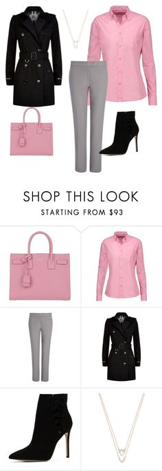 """Pink Fashion"" by blackseed ❤ liked on Polyvore featuring Yves Saint Laurent, Tomas Maier, Joseph, Burberry, ALDO and Swarovski"