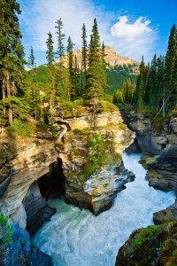 Johnston Canyon at Banff National Park in Alberta, Canada