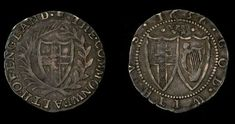 Genuine Old English Antique Coin Oliver Cromwell Commonwealth Solid Silver 1656 Sixpence, British, Civil War