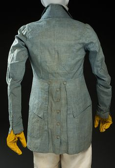 Fripperies and Fobs — Coat, From Historic Deerfield Museum 1800s Fashion, 19th Century Fashion, Mens Fashion, Medieval Fashion, Gothic Fashion, 18th Century, Antique Clothing, Historical Clothing, Men's Clothing