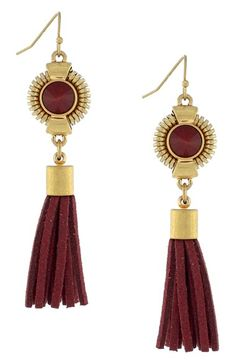 Vince Camuto 'Belle of the Bazaar' Tassel Drop Earrings available at #Nordstrom