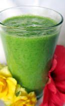 Blueberry & Spinach Superfood Green Smoothie: A superfood green smoothie recipe made with blueberries for a powerful eye-opening anti-oxidant boost. A raw vegan superfood meal in a green smoothie package.  Ingredients:        1 banana      4 ice cubes      1/2 cup fresh blueberries      1/4 cup liquid (see note below)      1 cup fresh spinach