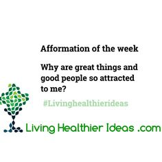 #afformationoftheweek Why are good things and good people so attracted to me? #afformations Have a blessed day! Namaste Cristina Find more #LivingHealthierIdeas and resources here http://ift.tt/1qlyWMw