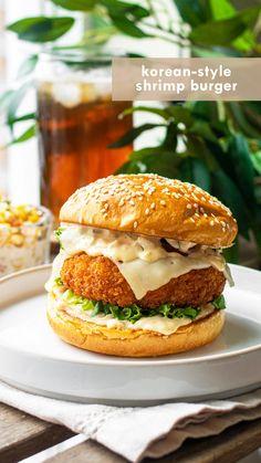 Shellfish Recipes, Shrimp Recipes, Shrimp Burger, Good Food, Yummy Food, Shrimp Patties, Foodblogger, Seafood Dishes, Empanadas