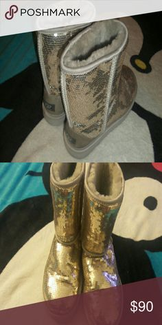 ??Ugg boots?? EUC!!! No flaws, all sequins intact  bought from journeys for $189 ALL REASONABLE OFFERS CONSIDERED!! UGG Shoes