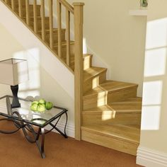 Oak stairparts are an elegant way to refresh or refurbish your existing stairs. Loft Staircase, Staircase Handrail, Oak Stairs, Staircase Design, Staircases, Cottage Stairs, House Stairs, Winder Stairs, Home Interior Design