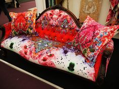 ornate couch