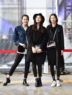 Street style: Kim Eun Hae, Kim Hee Seon and Song Hae In shot by Baek Seung Won at Seoul Fashion Week Fall 2015