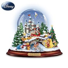 """""""An Old Fashioned Disney Christmas"""" Musical Snowglobe Showcasing 13 Classic Characters by The Bradford Exchange... - Listing price: $110.00 Now: $99.99"""