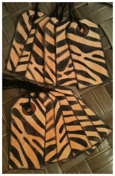 Tiger Tails Handmade Favor Tags Orange Black by alohacookiegirl, $5.50    http://www.etsy.com/listing/123837474/tiger-tails-handmade-favor-tags-orange?utm_campaign=Share_medium=PageTools_source=Pinterest
