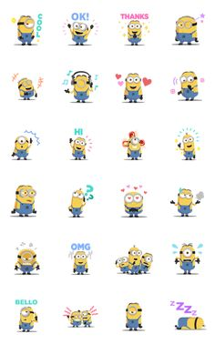 Minions: Cute Animated Stickers Sticker for LINE, WhatsApp, Telegram — Android, iPhone iOS Minions Cartoon, Minion Art, Cute Minions, Minions Quotes, Funny Minion, Funny Jokes, Minion Stickers, Cute Stickers, Minion Wallpaper Iphone