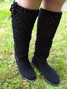 Crochet Boots, Leg Warmers, High Socks, Legs, Fashion, Log Projects, Boots, Booties Crochet, Leg Warmers Outfit