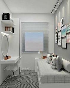 small bedroom ideas 2018 – kleine slaapkamerideeën 2018 – Share your vote! Single Bedroom, Small Room Bedroom, Small Rooms, Small Apartments, Bedroom Decor, Bedroom Themes, Teen Bedroom, Girl Bedrooms, Small Bedrooms Decor