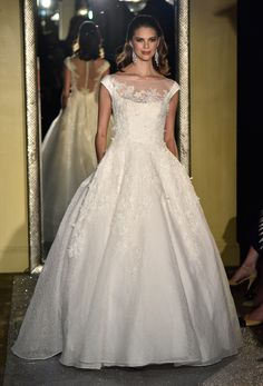Oleg Cassini Bridal Spring 2017   #BridalFashionWeek #Wedding Dress [Photo: Rodin Banica]