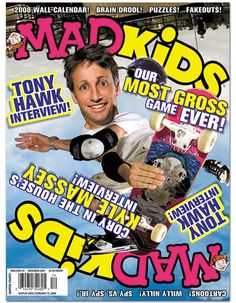Tony Hawk is Mad at kids Mad Magazine, Magazine Rack, Hawks Game, Tony Hawk, Kids, Skateboarding, Young Children, Boys, Skateboard