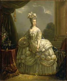 Marie Antoinette with a hat and a silk veil by Rose Bertin five years before her death