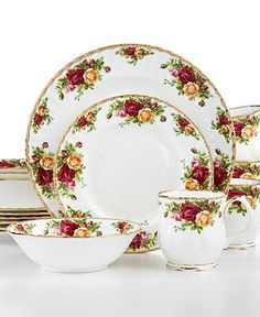 Royal Albert Old Country Roses 16-Piece Set Cheap Home Decor ef9a134668
