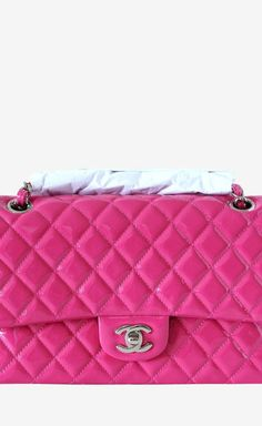 Chanel Fuchsia Patent Leather Shoulder Bag  28180a36468dc
