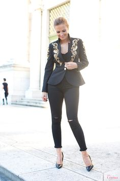 Cristina Ferreira | Daily Cristina Photoshoot | Switzerland | Jacket Elisabetta Franchi at Casiraghi Forever Store | Jeans Spacio at Casiraghi Forever store | shoes YSL |