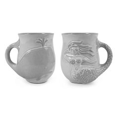 Jonathan Adler Stoneware Utopia Mermaid Coffee Tea Mug Cup Jonathan Adler Jonathan Adler, Mermaid Mugs, Pottery Studio, Pottery Workshop, Mid Century Modern Furniture, Luxury Gifts, Mug Cup, Decoration, Designer
