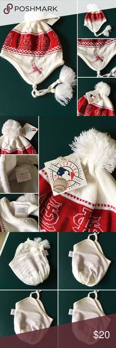 NWT Monogram PATTERN BEANIE EAR FLAP memorabilia NWT ST Louisville CARDINALS Monogram PATTERN BEANIE HAT CAP EAR FLAP memorabilia * Made and Designed by Top of the World. * Size is a One Size Fits All * Embroidered on One Ear Flap is a Louisville Cardinals Logo bird logo. * Top Quality 100% Acrylic * 100% Authentic. * Officially Licensed Collegiate Product Little Pom Pom at the end of ear string and on top.  Inside out photos for details.  NWT St Louis Cardinals baseball cap hat memorabilia…