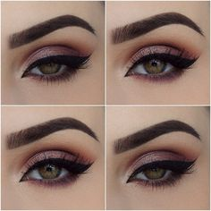 Eyeshadows are from @zoevacosmetics Naturally Yours and Sleek Respect palette