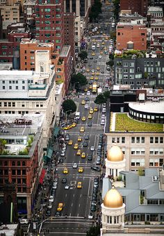 6th Avenue, New York City by navid j, via Flickr (Mariska Hargitay lives in the building with the gold rotundas)