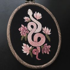 After an unexpected snowfall last night, I feel like this custom piece I just finished is a perfectly apt offering to usher in the spring,… Hand Embroidery Stitches, Embroidery Hoop Art, Hand Embroidery Designs, Cross Stitch Embroidery, Diy Broderie, Cross Stitching, Stitch Patterns, Needlework, Night