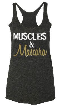 black Muscles & Mascara tank top fitness shirts fashion