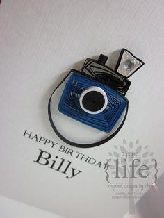 quilled camera, cute!