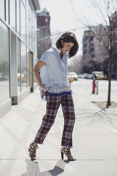 Leandra rocking the living crap out of those Dries pants. gimme. #LeandraMedine #ManRepeller