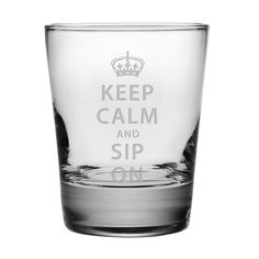 Keep Calm and Sip On with this Set of 4 Double Old Fashioned Glasses.  These cocktail glasses make a great gift.