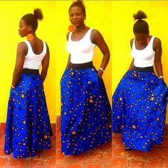 Maxi kitenge skirt
