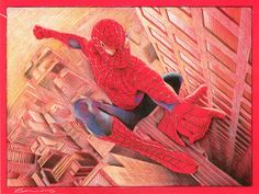 Gorgeous Spider-man artwork by Ben Curtis Jones    The stunning original is available at ArtInsights!