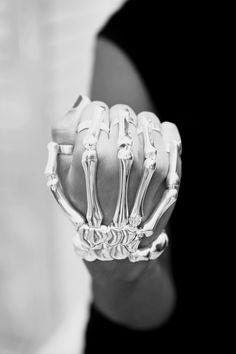 Skeleton bracelet designed by Delfina Delettrez. http://www.delfinadelettrez.com/