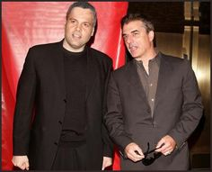 Vincent D' Onofrio with Chris Noth Chris Noth, Old Tv, Getting Wet, Suit Jacket, Blazer, Jackets, Pants, Law, Films