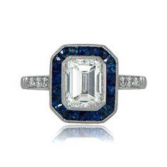 Antique Engagement Ring 1.53ct Antique by EstateDiamondJewelry