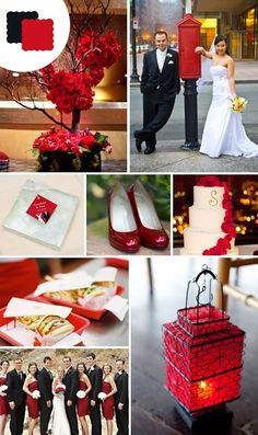 Red Black wedding inspirations palette