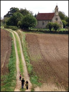 Country church on a dirt road.