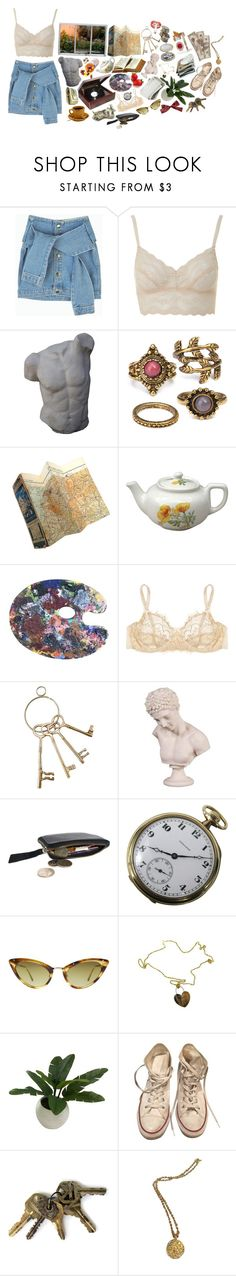 """""""# 4 1"""" by lunaslovies ❤ liked on Polyvore featuring b.tempt'd by Wacoal, Romanelli, Mimi Holliday by Damaris, Howard Elliott, Tom Ford, Roberto Coin, Threshold, Converse and Chanel"""