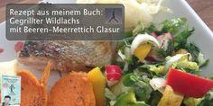 """Rezept aus meinem Buch """"Abnehmen mit Paleo"""": """"Gegrillter Wildlachs mit Beeren-Meerrettich Glasur"""""""