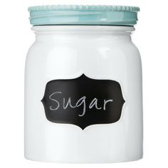 Stoneware Canister with chalkboard label