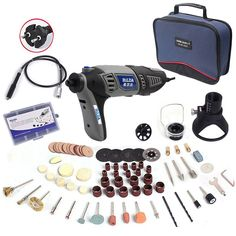 57.21$  Watch now - http://alif40.worldwells.pw/go.php?t=32681068842 - Russia 220V 180W Hilda Dremel Electric Rotary Power Tool Mini Drill with Flexible Shaft 133pcs Accessories Set Storage Bag
