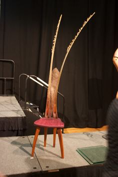 Weta Chair   @Ross Annels and @Carlie Blanchett-Burton CollaborationZ  - Timber, palm frond, woven reclaimed copper, fabric
