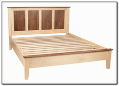 A queensize bed platform no box spring necessary Built from