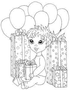 27 Best Birthday Drawings Images In 2015 Digi Stamps